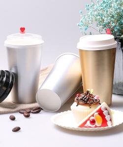 16盎司咖啡奶茶纸杯