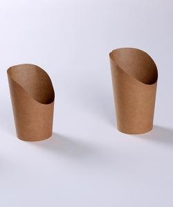 牛皮纸斜口薯条杯